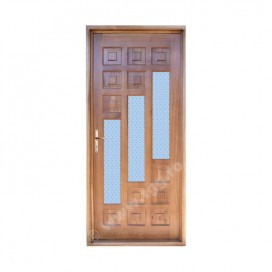 Usa de exterior din Stejar Masiv, finisaj tek, 1/2 geam, ESM-003