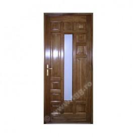 Usa de exterior din Stejar Masiv, finisaj tek, 1/4 geam, ESM-004