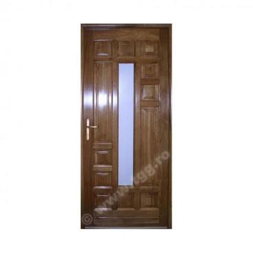 Usa de exterior din Stejar Masiv, tek, 1/4 geam, ESM-004