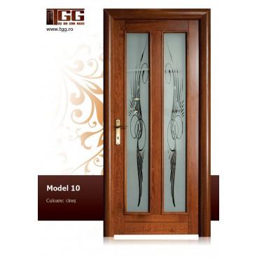 Usa de interior din Stejar Masiv Stratificat, finisaj cireş, 2/3 geam, ISM-010