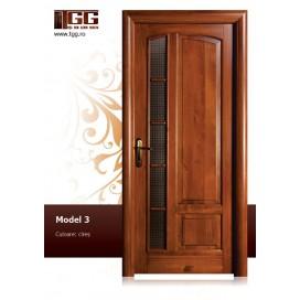 Usa de interior din Tei Masiv Stratificat, finisaj cires, 1/3 geam, promotie, ITM-003