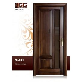 Usa de interior din Tei Masiv Stratificat, finisaj wenge, 1/3 geam, ITM-008