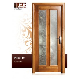 Usa de interior din Tei Masiv Stratificat, finisaj tek, 3/3 geam, ITM-010