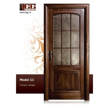 Usa de interior din Tei Masiv Stratificat, finisaj wenge, 2/3 geam, ITM-011