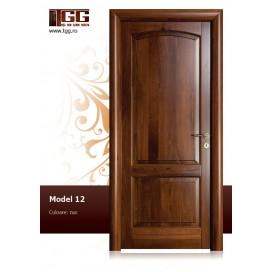 Usa de interior din Tei Masiv Stratificat, finisaj nuc, plina, ITM-012