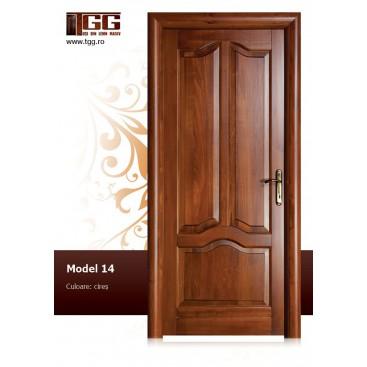 Usa de interior din Tei Masiv Stratificat, finisaj cires, plina, ITM-014