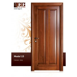 Usa de interior din Tei Masiv Stratificat, finisaj cires, plina, ITM-015