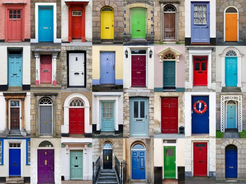 Top 10 culori speciale pentru usa de la intrare